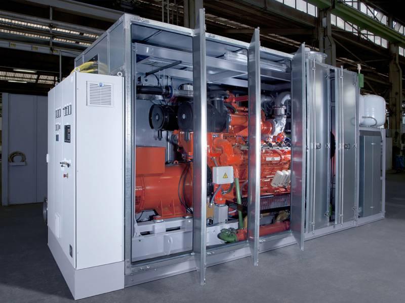 CHP power/gas generating sets